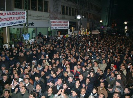 Streik in Tekel - Tuerkei